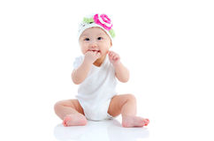 Lovely asian baby stock images