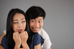 Lovely Asian couple. stock photography