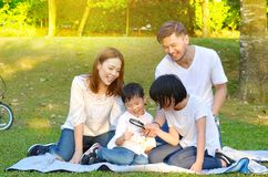 Lovely asian family royalty free stock photography