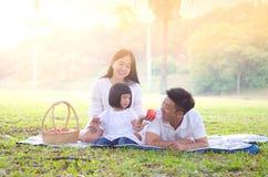 Lovely asian family Royalty Free Stock Photos