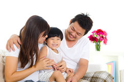 Lovely asian family stock images