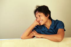 Lovely Asian woman smiling Royalty Free Stock Photography