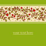 Lovely autumn background with cranberries. Royalty Free Stock Image