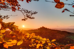 Lovely Autumn Landscape Panorama Picture Royalty Free Stock Photography