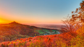Lovely Autumn Landscape Panorama Stock Photo
