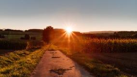 Lovely Autumn Sunrise Stock Photo