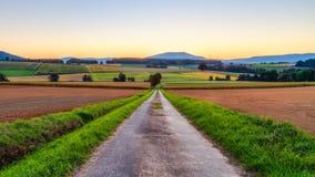 Lovely Autumn Sunrise in Bavaria, Europe Royalty Free Stock Image