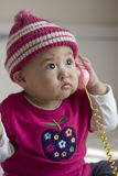 Lovely baby. On bright background Royalty Free Stock Photography