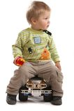 Lovely Baby Boy Stock Photo