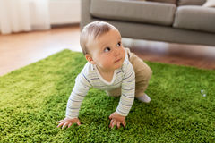 Lovely baby boy at home Stock Image