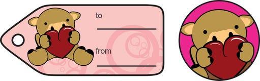 Lovely baby camel cartoon heart sticker copyspace Stock Photos