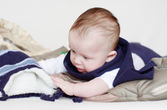 Lovely baby going to walk royalty free stock image