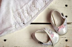 Lovely baby shoes Stock Photography