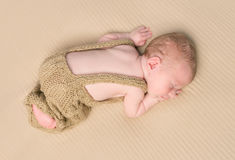 Lovely baby sleeping on his stomach Stock Photography