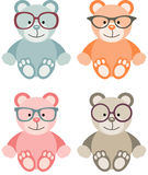 Lovely Baby Teddy Bear with Glasses Stock Photography