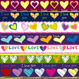 Lovely background with hearts Stock Images