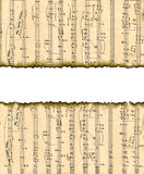 Lovely background image with musical notes. Royalty Free Stock Photo