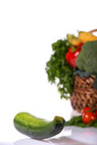 Lovely basket with fresh vegetables Stock Images