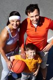 Lovely basketball players Stock Images
