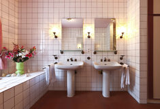 Lovely bathroom in style classical Stock Photography