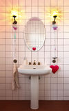 Lovely bathroom in style classical Stock Image