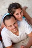 Lovely beach couple Stock Images