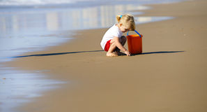 Lovely beach girl Stock Photography