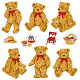 Lovely bear. I drew the bear which I loved Royalty Free Stock Photos