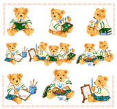 Lovely bear. I drew the bear which I loved Stock Photography