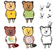 Lovely bear for your cartoon Stock Images