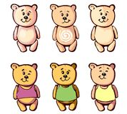 Lovely bear for your cartoon 3 Royalty Free Stock Images