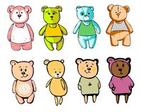 Lovely bears in cartoon style Royalty Free Stock Images