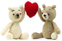 Lovely bears doll with heart Stock Image