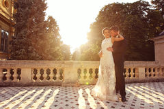 Lovely beautiful bride and groom Royalty Free Stock Photo