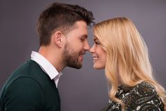 Lovely beautiful couple Royalty Free Stock Photos