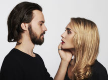 Lovely beautiful couple portrait.beauty woman and handsome man Stock Photo