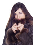 Lovely beauty girl in winter clothes Royalty Free Stock Images