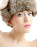 Lovely beauty in winter hat Royalty Free Stock Photos