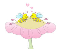 Lovely bees Stock Photo
