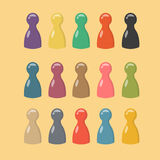 Lovely big set of colorful game pieces. Gaming chips for table games. Royalty Free Stock Photos
