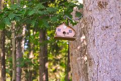 Lovely birdhouse Stock Images