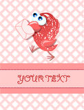 Lovely birds, card for your design,vector Stock Image