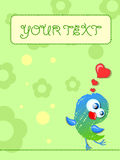 Lovely birds, card for your design,vector Stock Photo