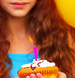 Lovely birthday girl Stock Image