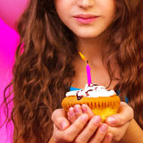 Lovely birthday girl Stock Photography
