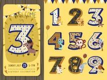 Lovely birthday party invitation Stock Image