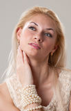 Lovely blond Royalty Free Stock Photo