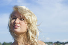 The lovely blonde Royalty Free Stock Image