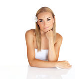 Lovely blonde at spa Stock Photography