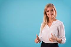 Lovely blonde wearing white blouse Royalty Free Stock Photos